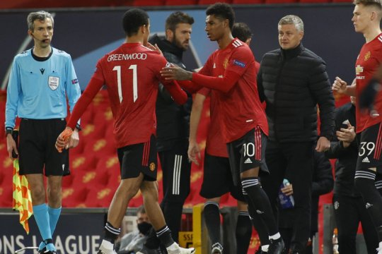 Marcus Rashford mencetak hattrick saat MU hajar Leipzig 5-0