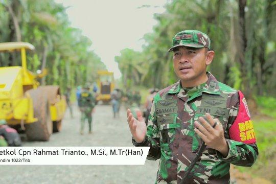 TMMD 109 Kodim 1022 Tanah Bumbu, Bangun Jalan Penghubung Sepanjang 2,5 Km