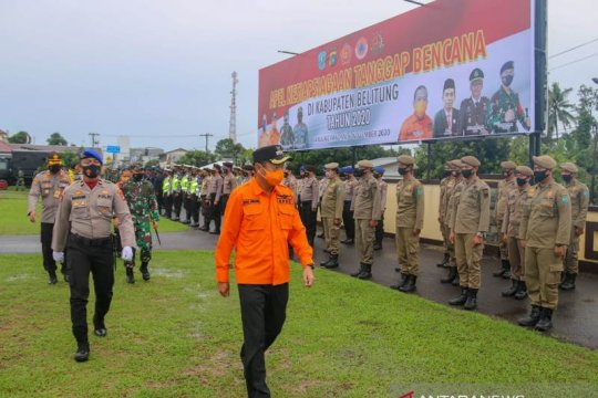Wabup Belitung pimpin apel siaga tanggap bencana