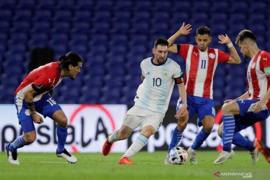 Argentina harus puas meraih satu poin saat ditahan imbang 1-1  Paraguay
