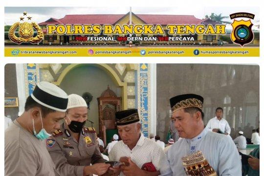 Polres Bangka Tengah sosialisasikan protokol kesehatan di masjid