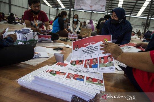 Pelipatan surat suara Pilkada Kabupaten Bandung