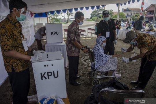 Simulasi pemungutan suara pilkada Kabupaten Bandung