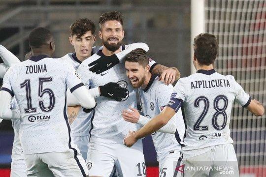 Gol Olivier Giroud menentukan kemenangan Chelsea 2-1 atas Rennes