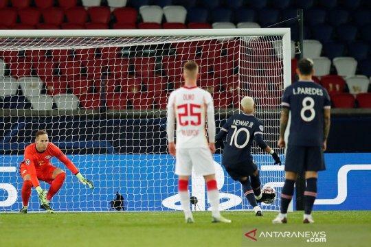 Penalti Neymar menjadi pembeda bagi PSG yang menang 1-0 kontra Leipzig