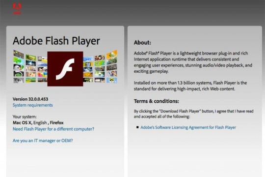 Adobe hentikan dukungan untuk Flash Player mulai 12 Januari 2021
