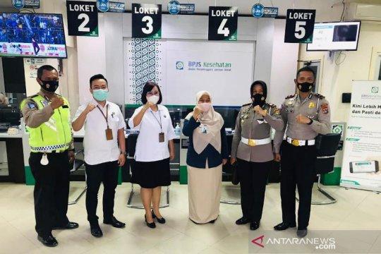 JR Babel Bersama BPJS Kesehatan dan Satlantas Polres Pangkalpinang Gelar Kegiatan Sinergi Pelayanan manfaat penjaminan KLL