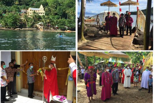 Uskup Manado resmikan Gereja Katolik Stasi Kahakitang Tahuna