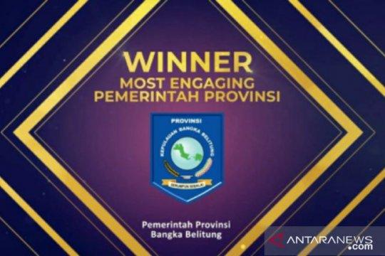 Pemprov Babel raih Government Social Media Award 2020