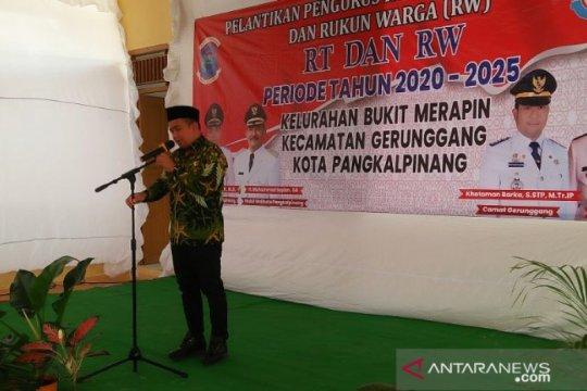 Walikota Pangkalpinang hadiri pelantikan RT/RW Kelurahan Bukit Merapin