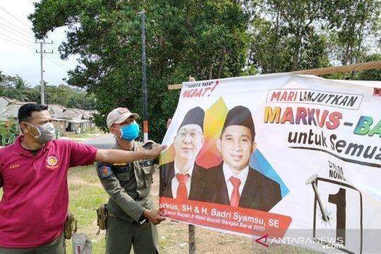 Bawaslu Bangka Barat tertibkan 278 alat peraga kampanye