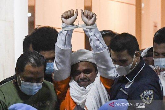 Penyidik Polda Metro Jaya tahan Rizieq Shihab