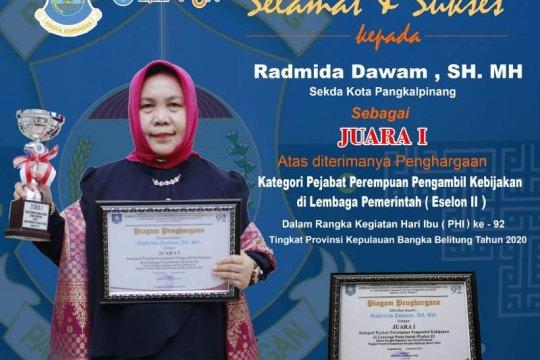 Sekda Pangkalpinang raih juara satu katagori pejabat perempuan pengambil kebijakan di lembaga pemerintahan