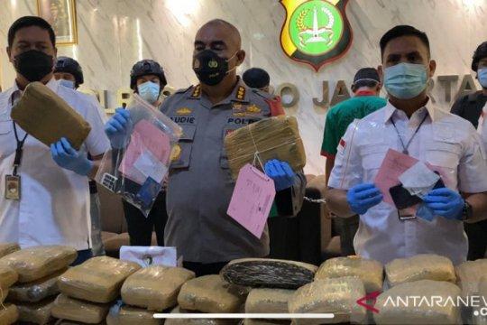 Polisi gagalkan peredaran 173 kg ganja