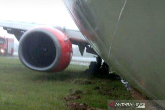 Pesawat Lion Air JT-173 tergelincir, penumpang dan awak selamat