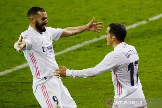 Benzema tampil gemilang saat bawa Madrid menang 3-1 di markas Eibar