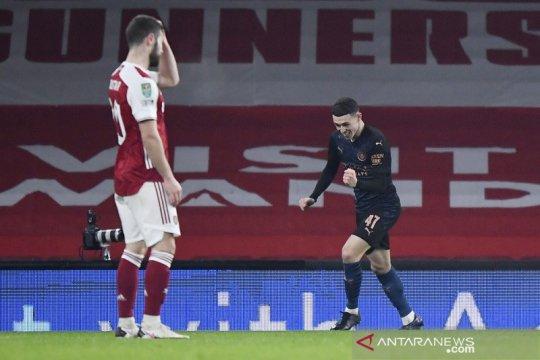 City melenggang ke semifinal Piala Liga Inggris usai taklukkan Arsenal 4-1