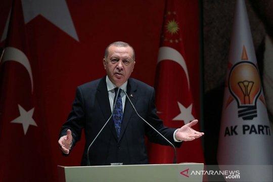 Erdogan mengkritik kekuatan Barat karena kurang tanggap terhadap kekerasan Israel terhada Palestina