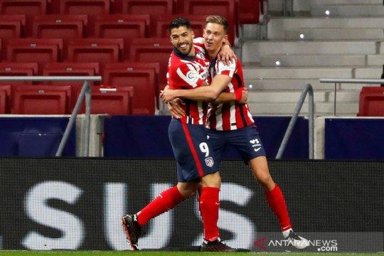 Luis Suarez mengantarkan Atletico Madrid menundukkan Getafe 1-0