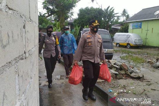 Polres Bangka salurkan 233 paket sembako korban banjir