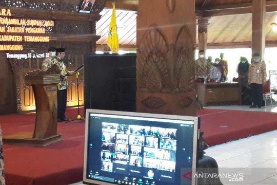 Pandemi, 650 pejabat di Temanggung dilantik secara virtual