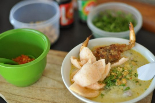 Bubur seafood ala Widyantara, paduan cita rasa dan kekuatan medsos