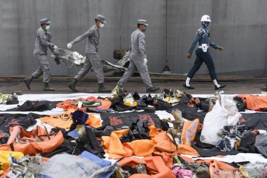 RS Polri menerima 310 kantong jenazah korban kecelakaan pesawat Sriwijaya Air SJ-182.