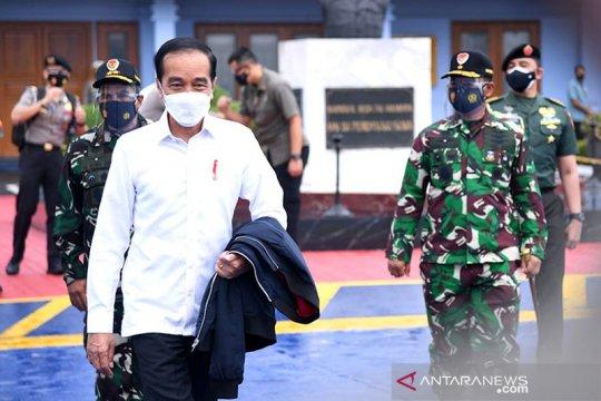 Presiden Jokowi apresiasi kerja Tim Sar Gabungan evakuasi Sriwijaya SJ-182