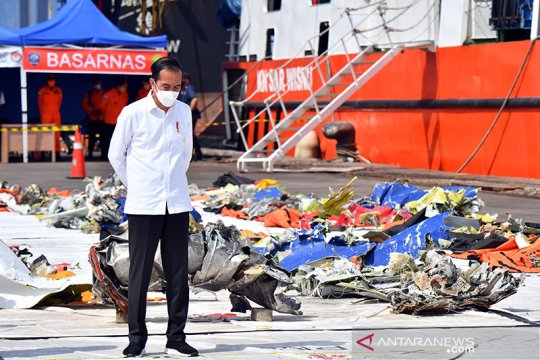 Jokowi apresiasi kerja Tim Sar Gabungan evakuasi Sriwijaya Air