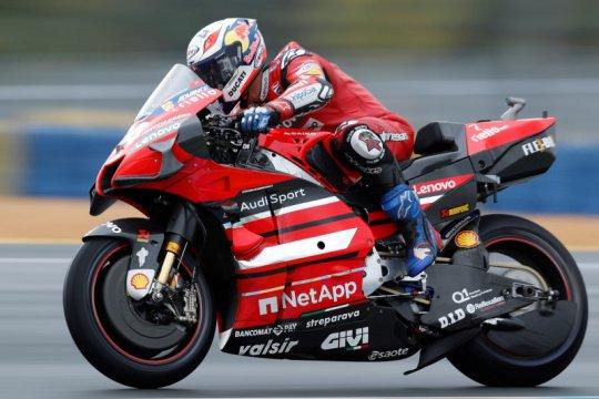 Andrea Dovizioso debut bareng Aprilia dalam tes privat di Jerez