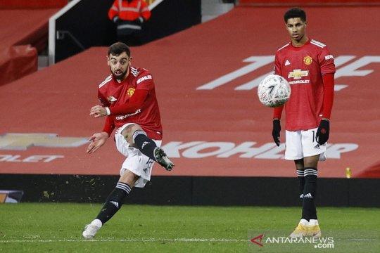Bruno Fernandez bawa MU menang atas Liverpool di Piala FA