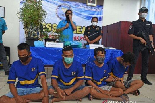 BNN Banten Tangkap 4 tersangka Sindikat Narkotika Asal Aceh dan Cilegon