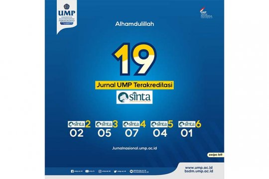 19 jurnal Universitas Muhammadiyah Purwokerto terakreditasi SINTA