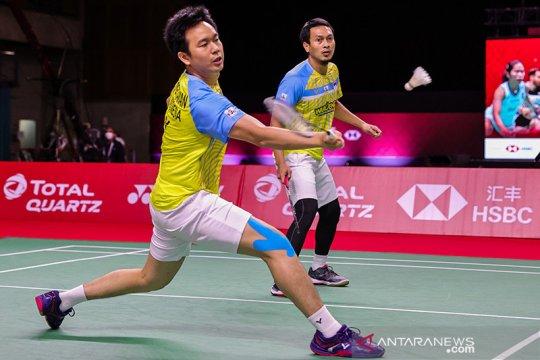 Hendra/Ahsan melaju ke semifinal World Tour Finals