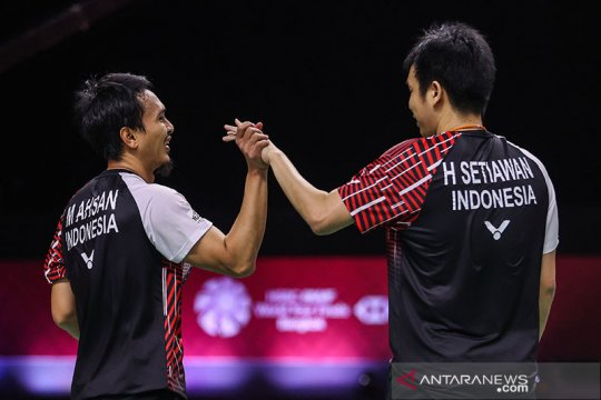 Hendra/Ahsan melaju ke final World Tour Finals
