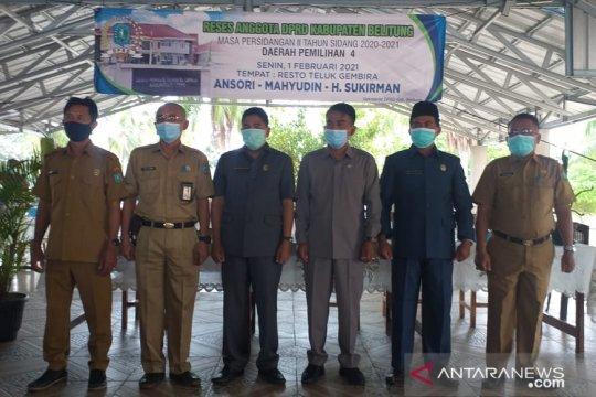 DPRD Belitung gelar reses jaring aspirasi masyarakat