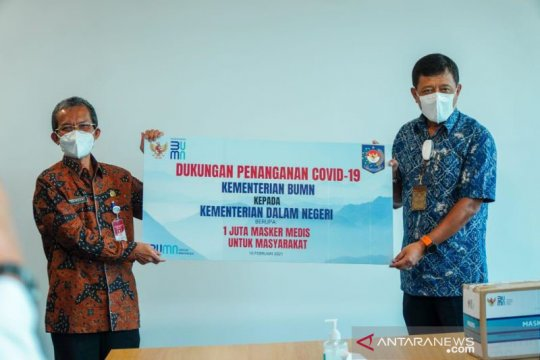 Menteri BUMN bantu satu juta masker untuk daerah zona merah COVID-19