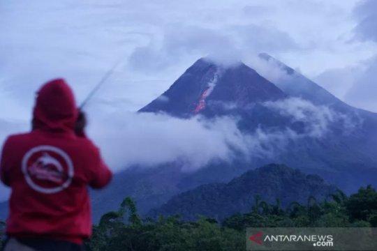 Merapi luncurkan guguran lava pijar sejauh 800 meter