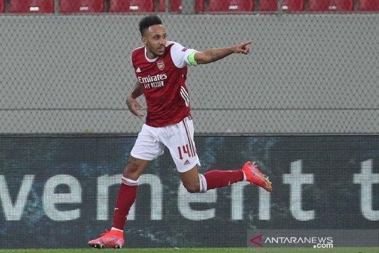 Aubameyang bawa Arsenal melaju ke 16 besar Liga Europa