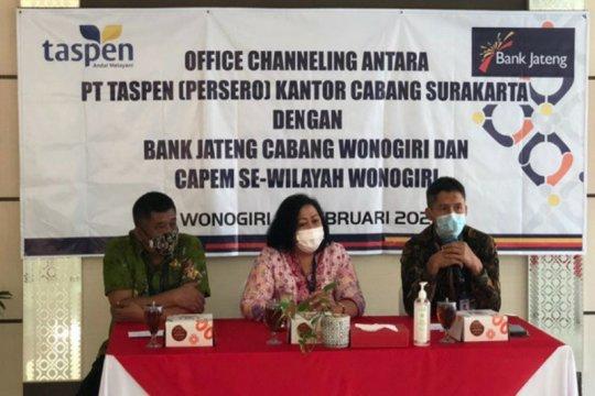 Bank Jateng- PT Taspen bersinergi adakan pelatihan office channeling
