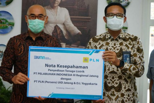 Sinergi PLN dan Pelindo, sambung listrik Shore Connection di Pelabuhan Semarang