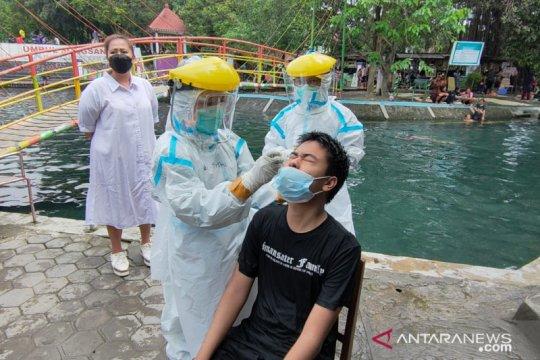Tim gabungan Boyolali lakukan operasi prokes di wisata Umbul Pengging