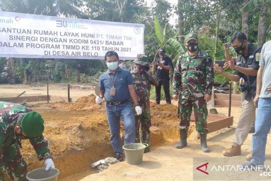 PT Timah Serahkan Paket Sembako untuk Korban Bencana Puting Beliung di Bangka Selatan