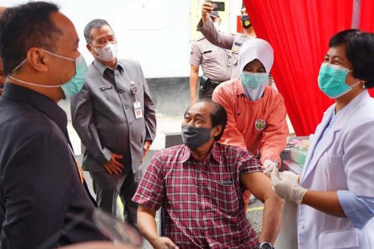 267 lansia Kota Magelang ikuti vaksinasi gelombang pertama