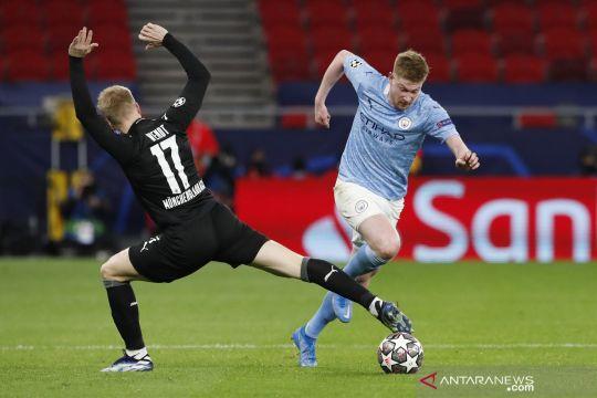 Manchester City meluncur mulus ke perempat final Liga Champions