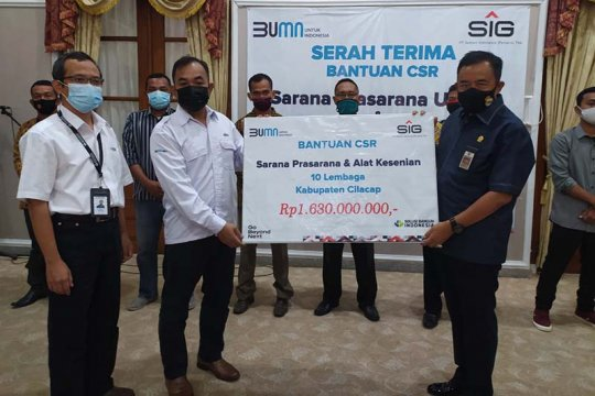 Bantu pembangunan infrastruktur Cilacap, Semen Indonesia gelontorkan Rp1,63 miliar