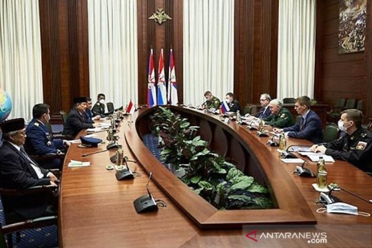 Prabowo Subianto bertemu Deputi Menhan Federasi Rusia