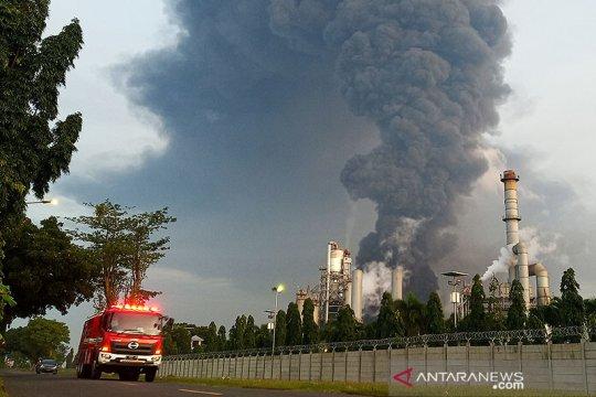 Polisi selidiki penyebab kebakaran kilang minyak