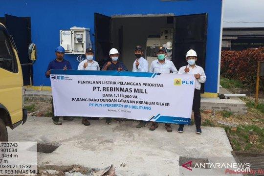PLN sambung listrik 1 juta VA untuk pabrik kelapa sawit di Belitung