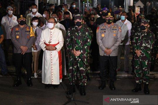 Panglima TNI pantau pengamanan Paskah di Gereja Katedral Jakarta